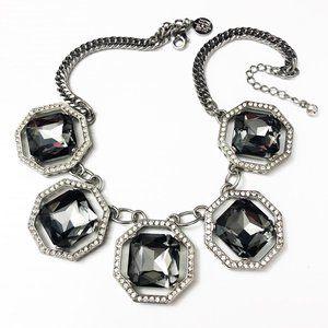 White House Black Market Silver Octagon Necklace